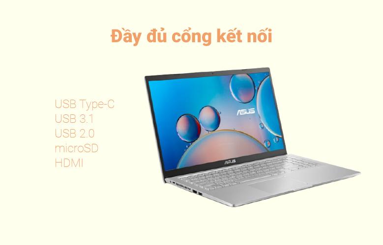 Máy tính xách tay Asus Vivobook X515MA-BR112T (N4020) (Bạc) | Đầy đủ cổng kết nối