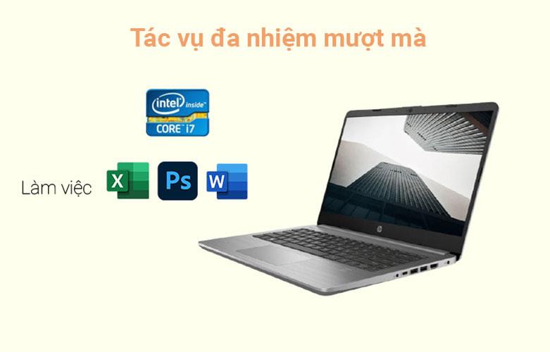 Laptop HP 340s G7 (2G5C6PA) (i7-1065G7) (Xám) | Tác vụ đa nhiệm mượt mà
