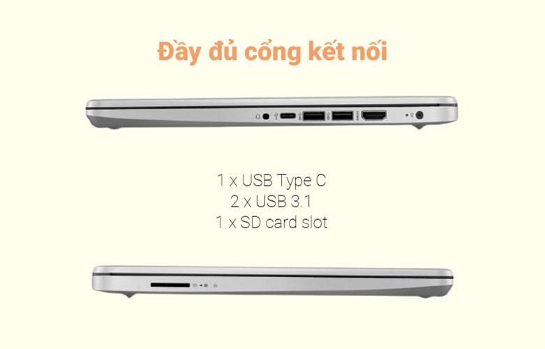 Laptop HP 340s G7 (2G5C6PA) (i7-1065G7) (Xám) | Đầy đủ cổng kết nối