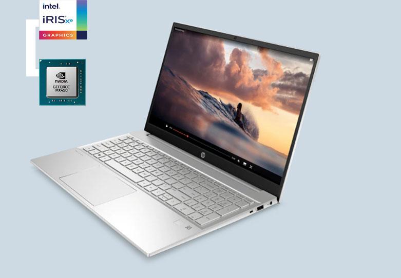 Laptop HP Pavilion 15-eg0006TX (2D9C9PA) (i5-1135G7) (Vàng) | Chip đồ họa mạnh mẽ