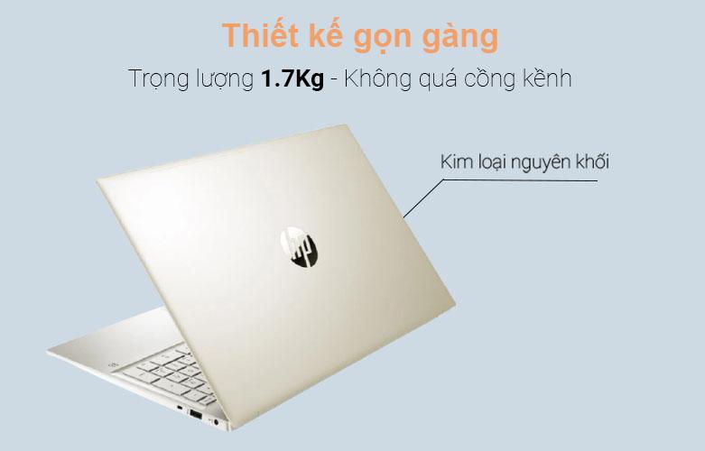 Laptop HP Pavilion 15-eg0006TX (2D9C9PA) (i5-1135G7) (Vàng) | Thiết kế gọn gàng