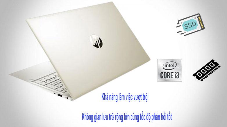 Laptop HP Pavilion 15-eg0009TU (2D9K6PA) (i3-1115G4) (Vàng) | Hiệu suất tối ưu