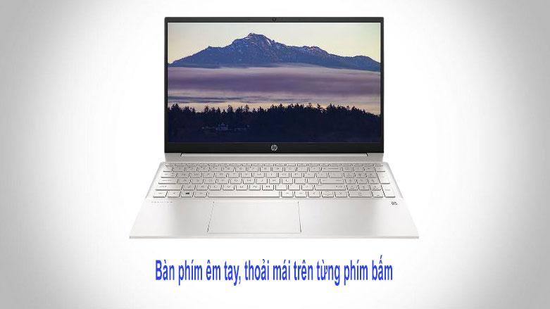 Laptop HP Pavilion 15-eg0009TU (2D9K6PA) (i3-1115G4) (Vàng) | Bàn phím tối ưu