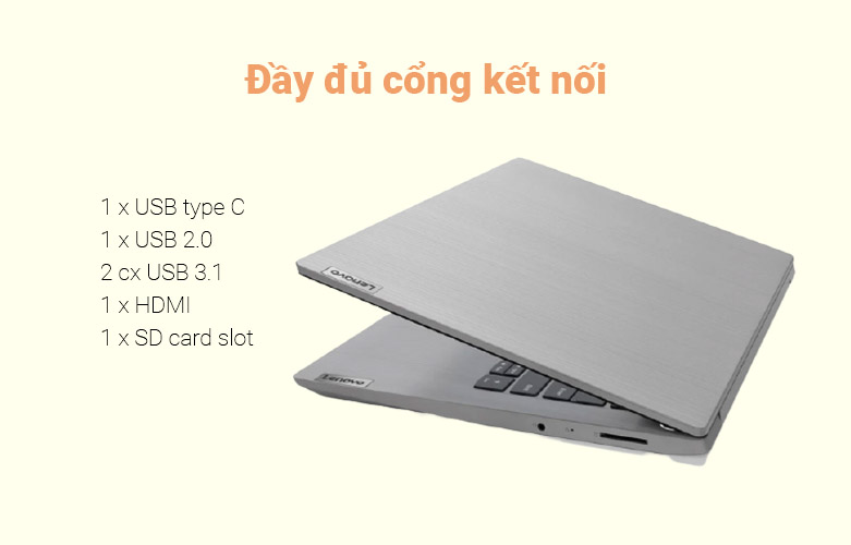 Laptop Lenovo Ideapad 3 14IIL05-81WD00JDVN | Đầy đủ cổng kết nối