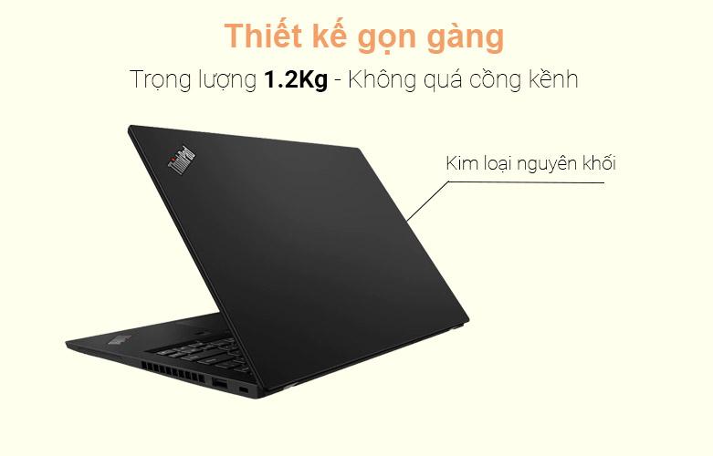 Laptop Lenovo Thinkpad X13-20T2S01E00 | Thiết kế nhỏ gọn, màu đen sang trọng