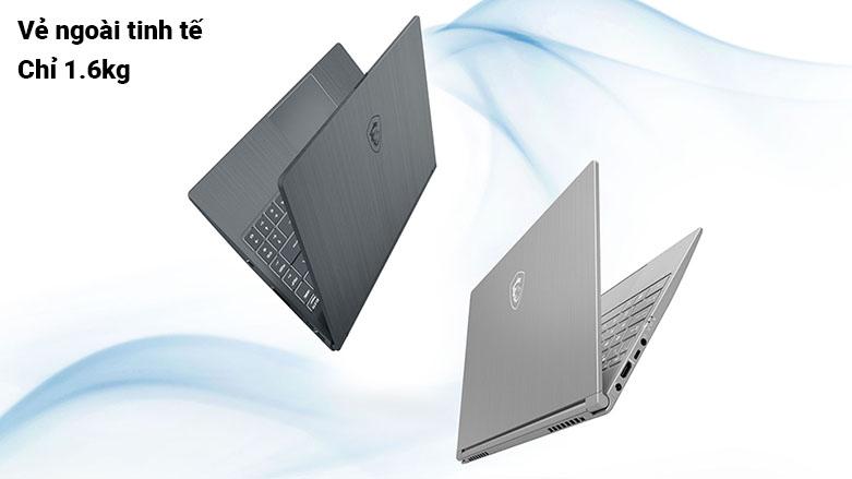 Laptop MSI Modern 17 A11M-099VN | Vẻ ngoài tinh tế