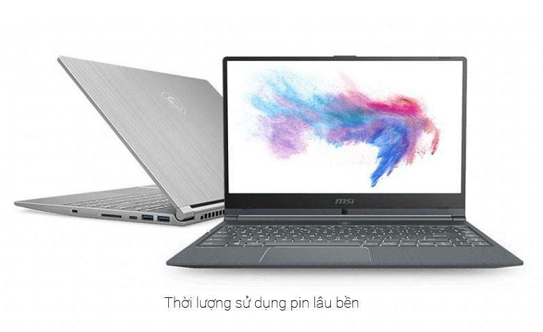 Laptop MSI Modern 17 A11M-099VN | Thời lượng pin sử dụng lâu