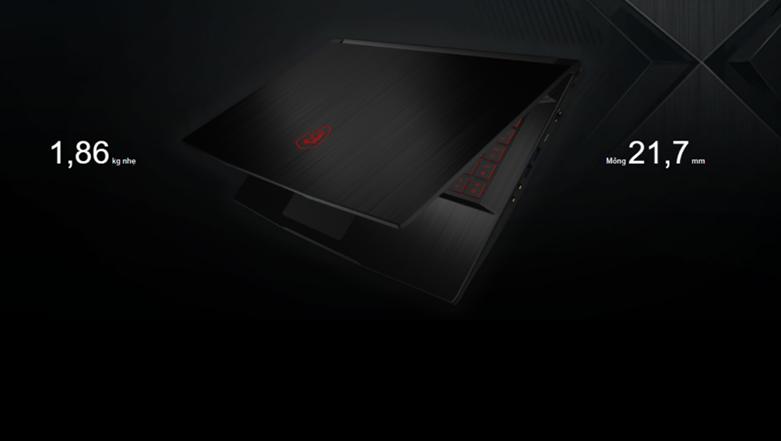 Laptop MSI Thin GF63 10SCXR-1218VN | Thiết kế đơn giản
