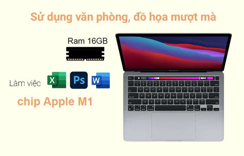 """Laptop MacBook Pro 2020 13.3"""" Z11B000CT (M1/16GB/SSD256GB) (Xám)   Hiệu năng mạnh mẽ"""