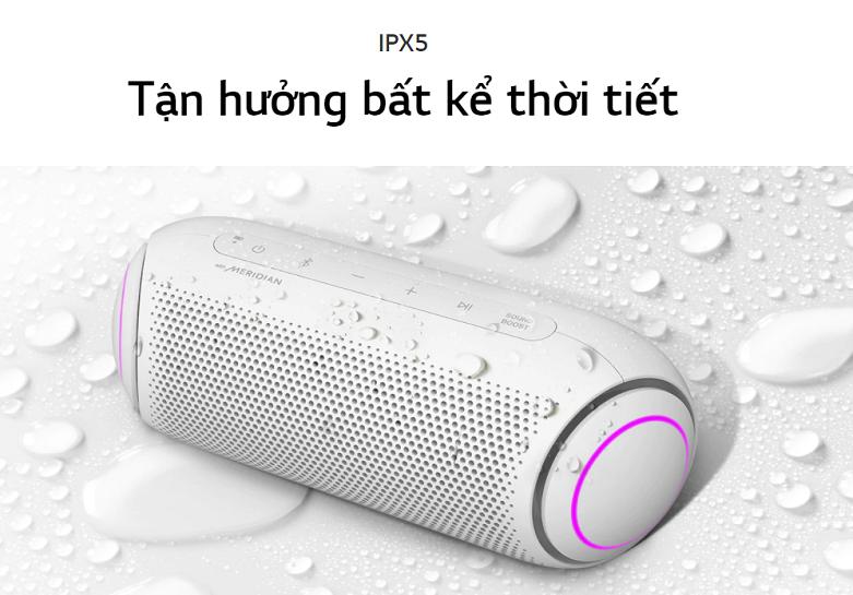 Loa Bluetooth LG PL5W (Trắng)   Tận hưởng bất kể thời tiết