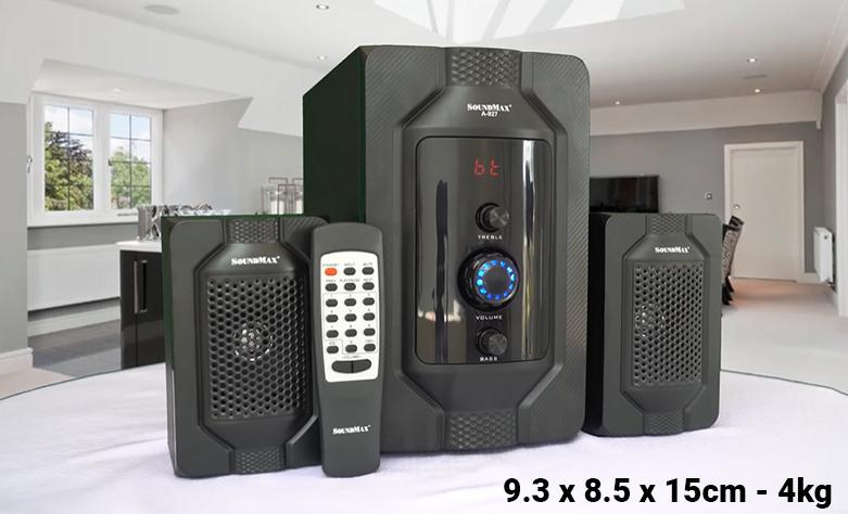 Loa Bluetooth SoundMax A-927/2.1 | Kích thước nhỏ gọn tiện lợi