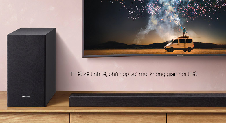 Loa Bluetooth Soundbar Samsung 2.1 HW-R450 200W   Thiết kế tinh tế