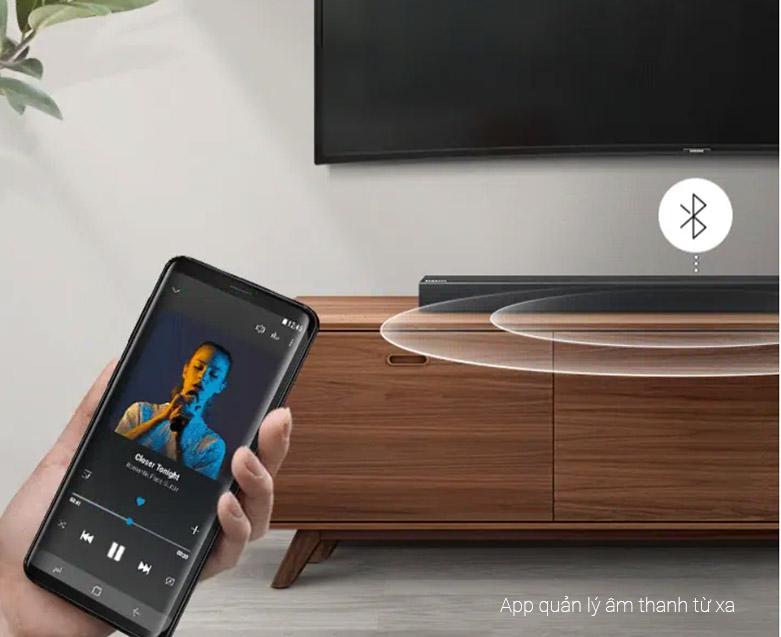 Loa Bluetooth Soundbar Samsung 2.1 HW-R450 200W   App quản lý tiện lợi