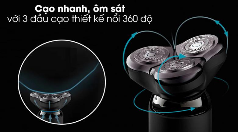 Máy cạo râu Xiaomi S500 NUN4131GL | Sử dụng êm ái, cạo sạch nhanh