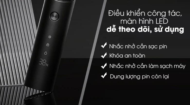 Máy cạo râu Xiaomi S500 NUN4131GL | Chức năng sử dụng dễ dàng, dễ theo dõi