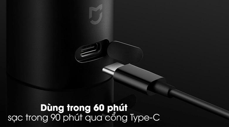 Máy cạo râu Xiaomi S500 NUN4131GL   Dung lượng pin lớn, dễ dàng nạp năng lượng