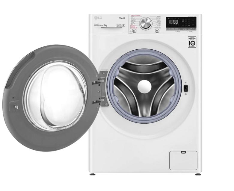 Máy giặt LG Inverter 9 kg FV1409S3W   Công nghệ hơi nước Steam+