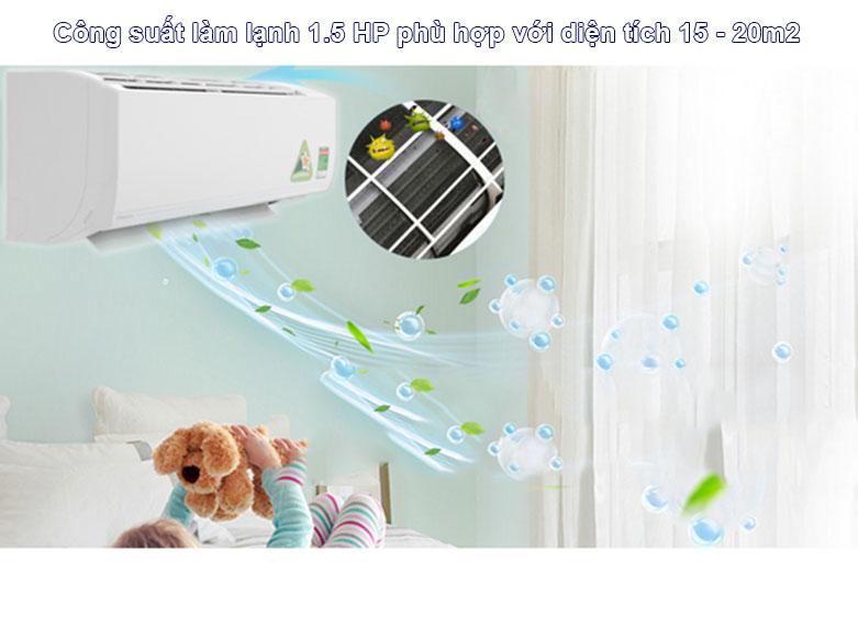Máy lạnh Daikin Inverter 1.5 HP ATKC35UAVMV | Công suất làm lạnh tối ưu
