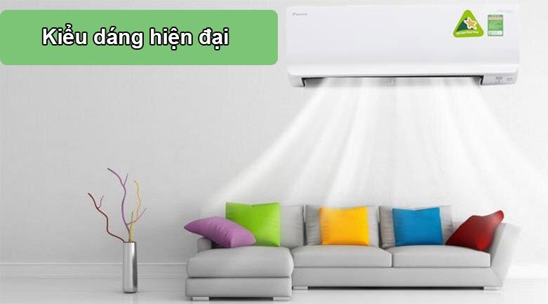 Máy lạnh Daikin Inverter 1.5 HP ATKC35UAVMV | Kiểu dáng hiện đại
