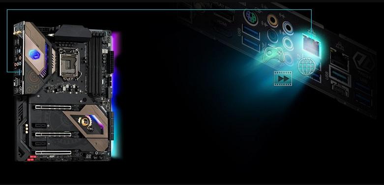 Mainboard Asrock Z490 Taichi | nền tảng LAN 2.5 GB/giây thông minh