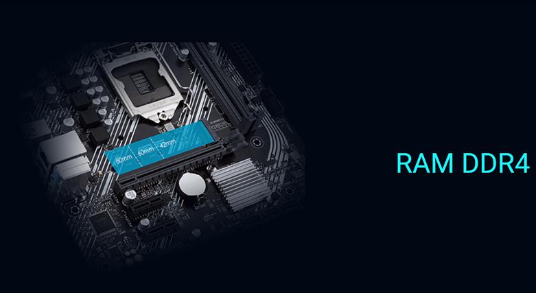 Mainboard ASUS PRIME H410M-E/CSM | hỗ trợ RAM DDR4