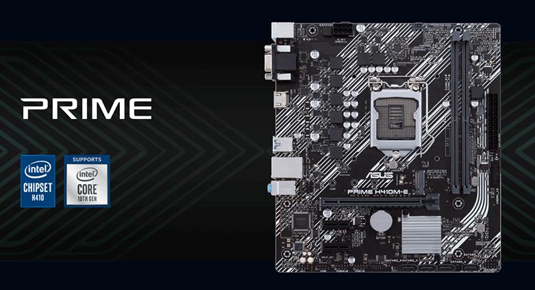 Mainboard ASUS PRIME H410M-E/CSM | Hỗ trợ Chipset H410 và Socket 1200