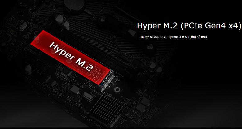 Mainboard Asrock B550M-HDV (90-MXBDJ0-A0UAYZ) | Thiết bị hỗ trợ SSD M.2 PCIe