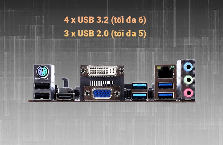 Mainboard Colorful BATTLE-AX B460M-D V20 | Cổng kết nối đa dạng