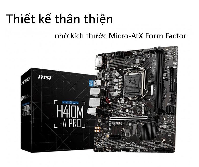 Bo mạch chính/ Mainboard MSI H410M-A PRO | Thiết kế thân thiện với người dùng