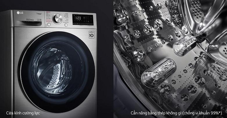 Máy giặt LG Inverter 8.5 kg FV1408S4V   Thiết kế thông minh