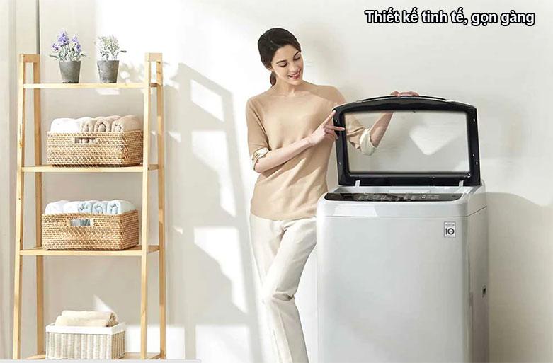 Máy giặt LG Inverter 8.5 kg T2185VS2W | Thiết kế tinh tế gọn gàng