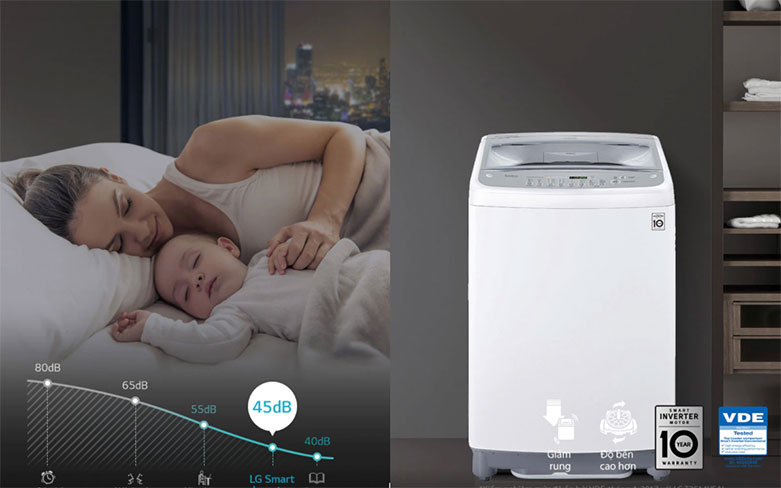 Máy giặt LG Inverter 8.5 kg T2185VS2W | Công nghệ biến tần Inverte