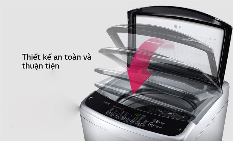 Máy giặt LG Inverter 8.5 kg T2185VS2W | Thiết kế an toàn và thuận tiện