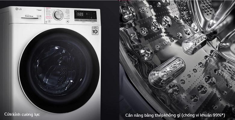 Máy giặt LG Inverter 9 kg FV1409S4W | Khối lượng giặt lớn