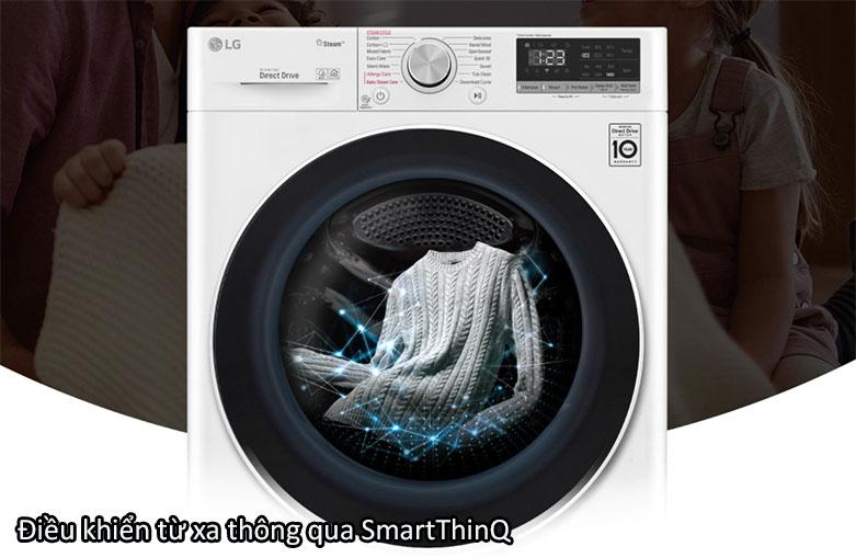 Máy giặt LG Inverter 9 kg FV1409S4W | Điều khiển từ xa