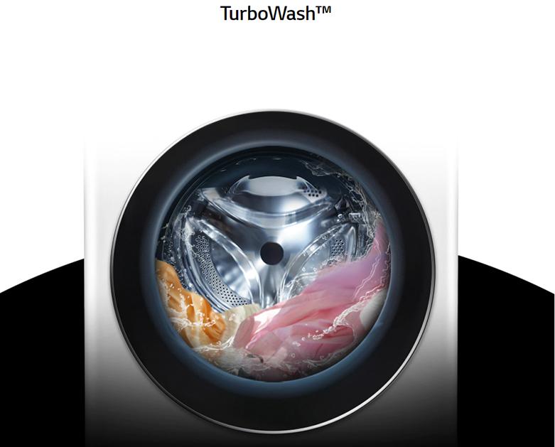 Máy giặt LG Inverter 9 kg FV1409S2W   Công nghệ giặt tiết kiệm với TurboWash