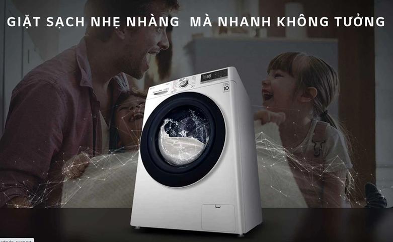 Máy giặt LG Inverter 9 kg FV1409S2W   Tính năng giặt 6 chuyển động