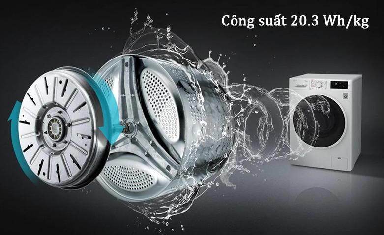 Máy giặt LG Inverter 9 kg FV1409S2W   Công suất tối ưu