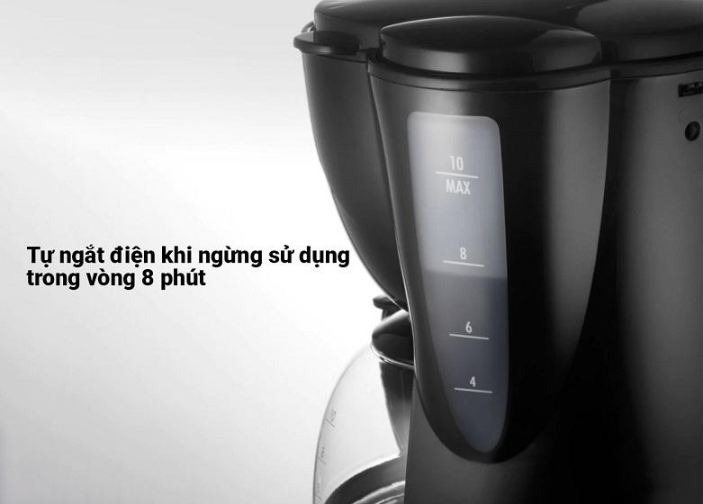 Máy pha cà phê Delonghi ICM2.1B | Chức năng tự ngắt điện khi ngừng sử dụng trong vòng 8 phút, chất liệu nhựa và thuỷ tinh cao cấp