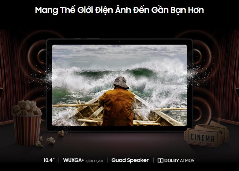 Samsung Galaxy Tab A7 T505 64GB (Đồng) (SM-T505NZDEXEV)   Màn hình IPS LCD 10.4 inch, camera sắc nét