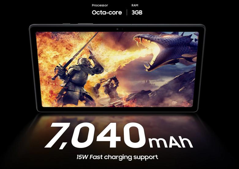 Samsung Galaxy Tab A7 T505 64GB (Xám) (SM-T505NZAEXEV)   dung lượng pin tận 7040 mAh