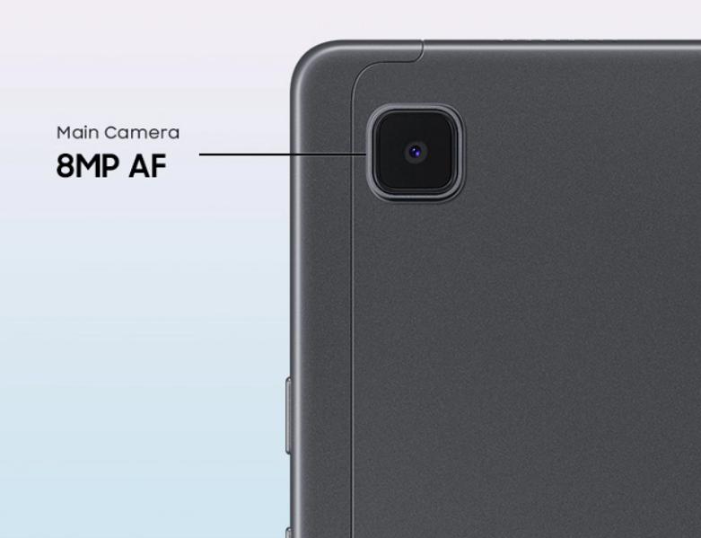 Samsung Galaxy Tab A7 T505 64GB (Xám) (SM-T505NZAEXEV)   Camera chính với 8MP đem đến cho bạn những khung hình sống động