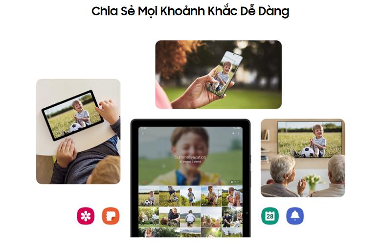 Samsung Galaxy Tab A7 T505 64GB (Xám) (SM-T505NZAEXEV)   kết nối nhanh chóng và dễ dàng với Google Duo