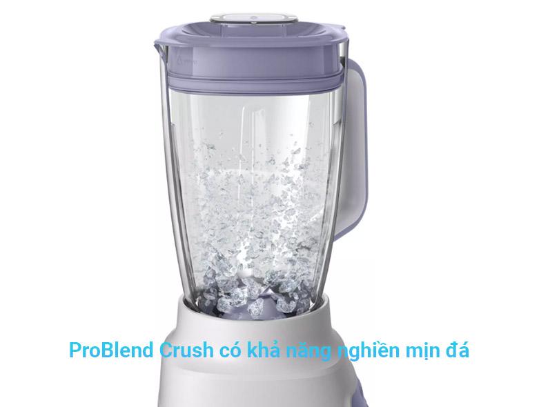 Máy xay sinh tố Philips HR2222/00 | công nghệ ProBlend Crush có khả năng nghiền mịn đá, nhanh gấp 2 lần