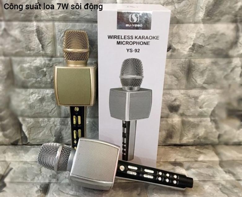 Mic karaoke YS-92 SUYOSD (Vàng)   Công suất 7W sôi động