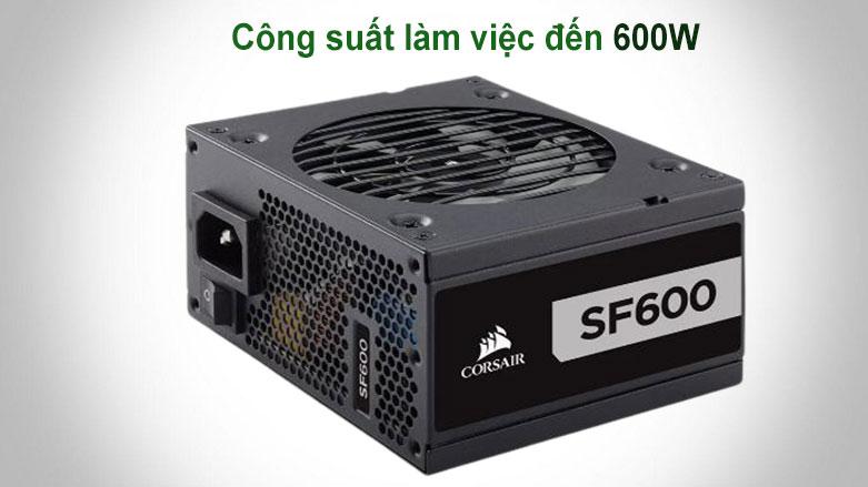 Nguồn/ Power Corsair 600w SF600 - 80 Plus Platinum (CP-9020182-NA) | Công suất hoạt động 600W