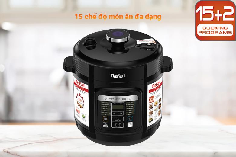 Nồi áp suất điện Tefal CY601868 | 15 chế độ món ăn đa dạng