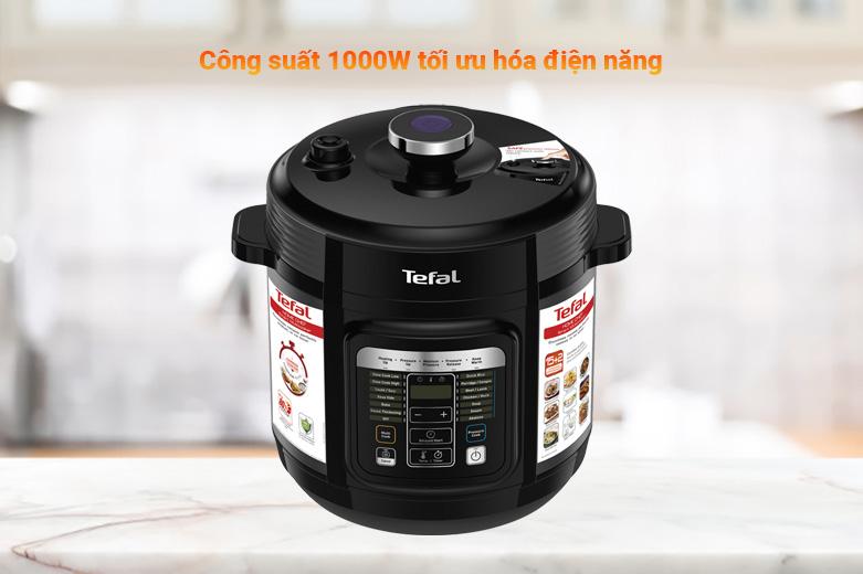 Nồi áp suất điện Tefal CY601868 | công suất 1000W tối ưu hóa điện năng