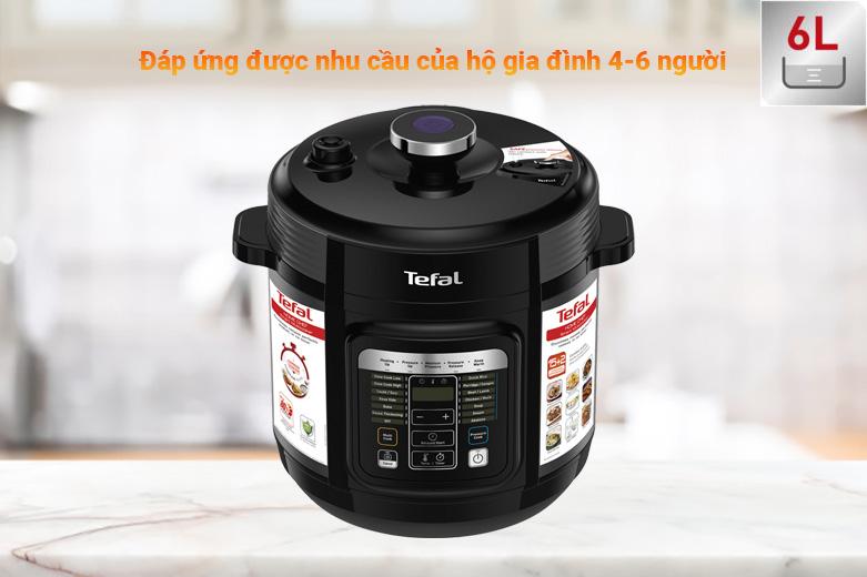 Nồi áp suất điện Tefal CY601868 | Phù hợp hộ gia đình 4-6 người