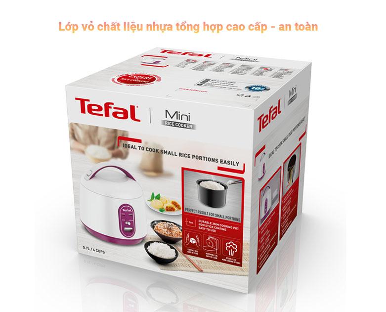 Nồi cơm điện cơ mini Tefal RK224168 - 0.7L, 300W | chất liệu nồi an toàn cho sức khỏe